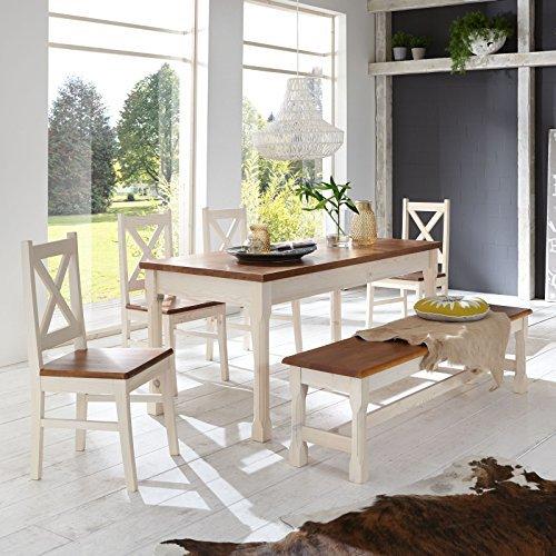 essgruppe kreta essecke pinie set esstisch 4 st hle bank massiv holz garnitur m bel24. Black Bedroom Furniture Sets. Home Design Ideas