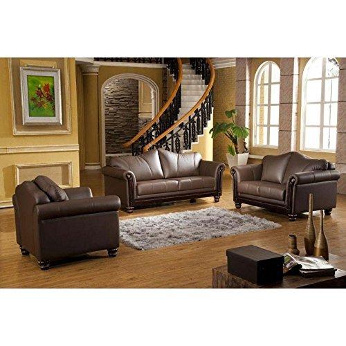 exclusive designer leder garnitur mit federkern polsterung. Black Bedroom Furniture Sets. Home Design Ideas