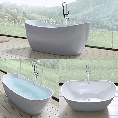 Exclusive freistehende design badewanne vicenza502 in wei for Exclusive esszimmertische