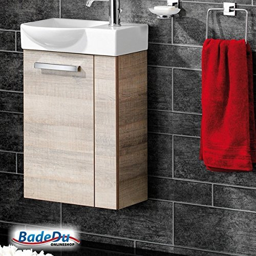 fackelmann g ste wc waschtisch a vero in graueiche optik. Black Bedroom Furniture Sets. Home Design Ideas