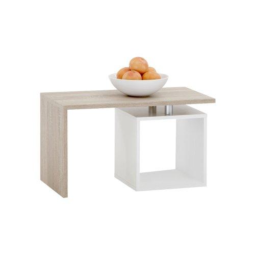 Unbekannt FMD Möbel 627-001 Couchtisch Klara 77 x 44 x 40 cm, eiche/weiß