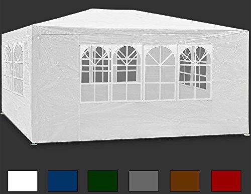 Deuba® Festzelt weiß Maui 3x4m ✔ Farbauswahl ✔ Seitenwände ✔ Rundbogenfenster ✔ Verankerbar ✔ 12qm ✔ UV-Schutz +50 ✔ Partyzelt Pavillon
