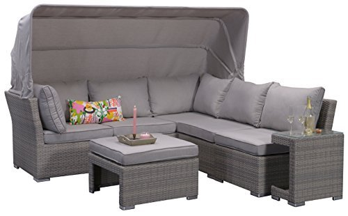 garden impressions 07198gt lounge set kuba shadow 226 x 221 x 75 cm grau m bel24. Black Bedroom Furniture Sets. Home Design Ideas