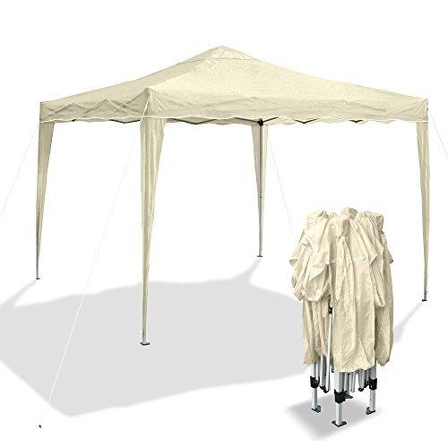 Gartenpavillon-Bahama-I-Falt-Pavillon-3-x-3-m-beige-Material-Oxford-200D-Metallgestnge-inkl-Tasche-0
