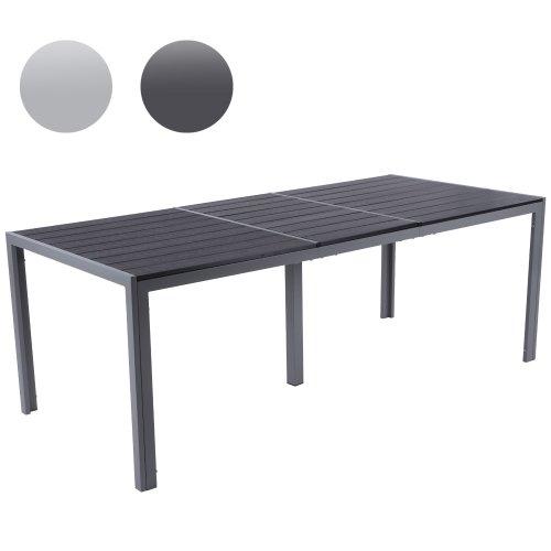 Miadomodo–Gartentisch 200x 90x 72cm dunkelgrau