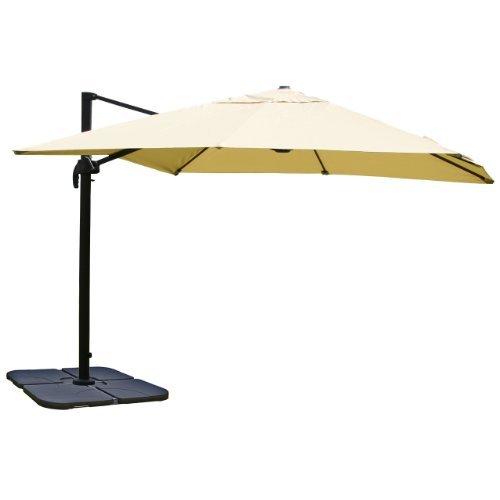 mendler gastronomie luxus ampelschirm sonnenschirm n22 4 3 m creme mit st nder m bel24. Black Bedroom Furniture Sets. Home Design Ideas