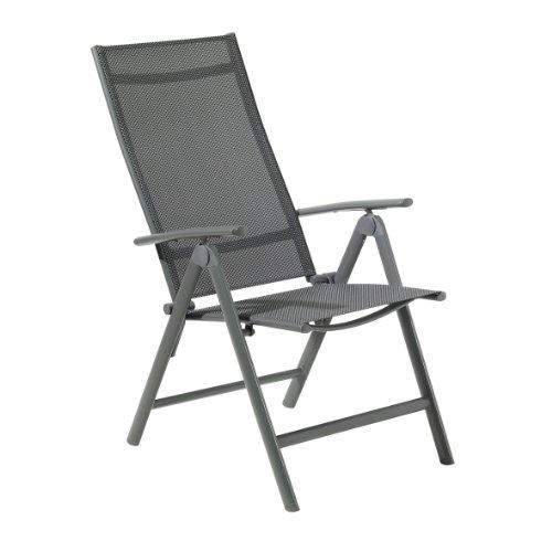 greemotion klappsessel faro aus aluminium in grau alu gartenstuhl r ckenlehne 8 fach. Black Bedroom Furniture Sets. Home Design Ideas