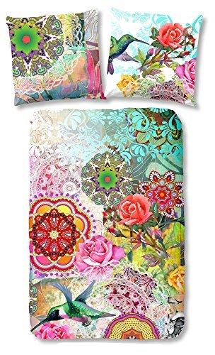 HIP 4950-H, 135cm Vivant bettwäsche mit farbigen Figuren, 100 Prozent Baumwolle/Satin, mehrfarbig, 200 x 135 x 0,5 cm