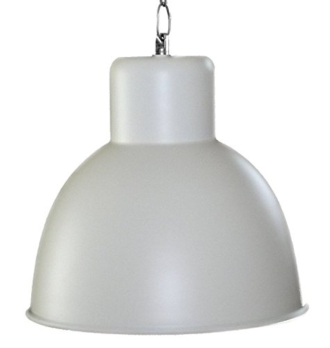 Hängeleuchte Elegante moderne Fabrik Industrielampe - Pendelleuchte - Hängelampe - Deckenlampe - Loft Lampe im Retro Industrie Design Farbe Elfenbein creme lackiert