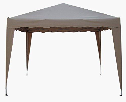 Hochwertiger Faltpavillon 300x300 in natur - beige - taupe inkl. Transporttasche