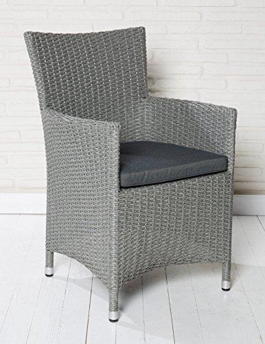 Hochwertiger Polyrattan Gartenstuhl Sessel Rattan Stuhl Gartenstühle Gartenmöbel