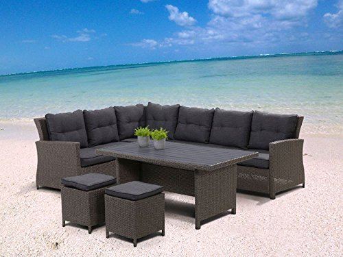 hohe dining poly rattan lounge havanna inkl kissen m bel24. Black Bedroom Furniture Sets. Home Design Ideas
