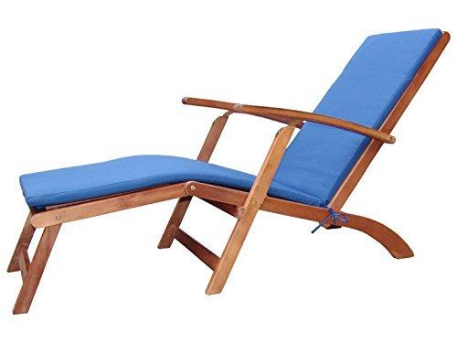 Holz Sonnenliege Gartenliege Deckchair Liege Liegestuhl Gartenstuhl verstellbar inkl Polster  ~ 18031819_Liegestuhl Mehrfach Verstellbar