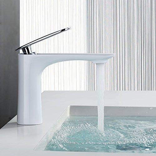 homelody edel weiss wasserhahn bad armatur waschbecken badarmatur waschtischarmatur. Black Bedroom Furniture Sets. Home Design Ideas