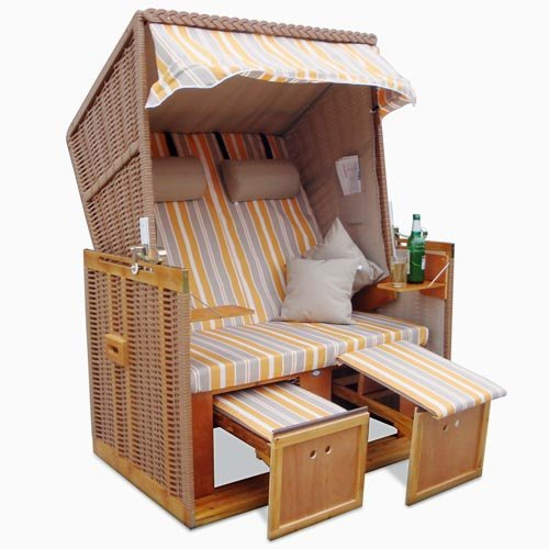 m bel24 m bel g nstig homelux strandkorb deluxe polyrattan sylt ostsee volllieger ink 4x. Black Bedroom Furniture Sets. Home Design Ideas