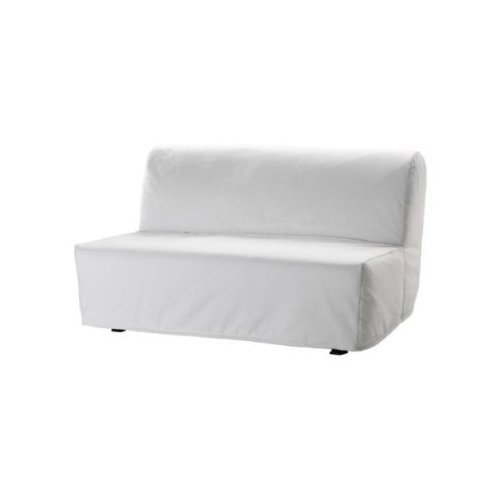 ikea bettsofa lycksele 2 er sofa schlafsofa inkl matratze lattenrost bezug in weiss m bel24. Black Bedroom Furniture Sets. Home Design Ideas