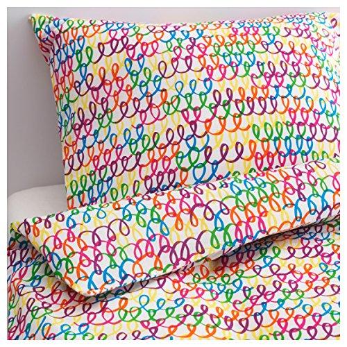 ikea bettw sche garnitur stickat in 4 farben bunt m bel24. Black Bedroom Furniture Sets. Home Design Ideas