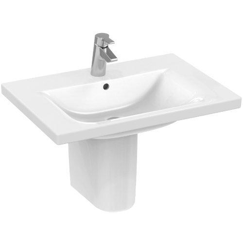 Ideal Standard Connect Möbelwaschtisch; weiss; mit 1 Hahnloch; 70