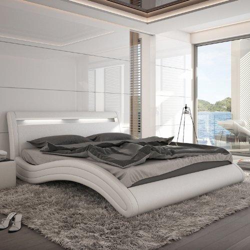 innocent polsterbett misani 180x200cm kunstleder mit led beleuchtung wei m bel24. Black Bedroom Furniture Sets. Home Design Ideas