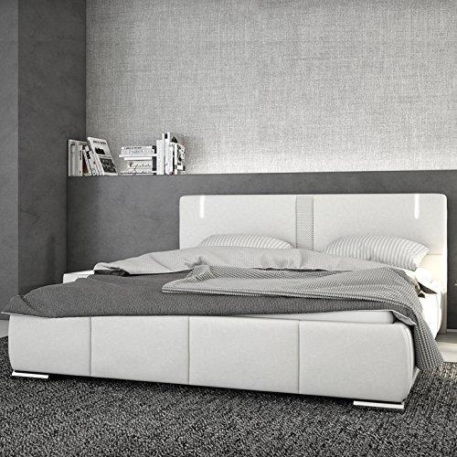 innocent polsterbett aus kunstleder wei 180x200cm mit led und lautsprecher ricci boxspringbett. Black Bedroom Furniture Sets. Home Design Ideas