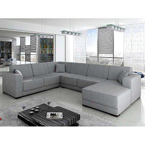 Justhome amsterdam wohnlandschaft couchgarnitur for Wohnlandschaft creme