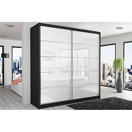 justyou beauty vi schwebet renschrank kleiderschrank garderobenschrank 218x200x60 cm farbe. Black Bedroom Furniture Sets. Home Design Ideas