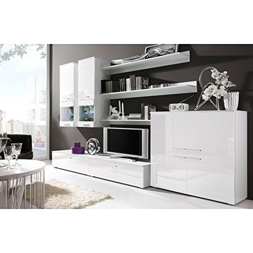 justhome cami ii wohnwand anbauwand schrankwand farbe. Black Bedroom Furniture Sets. Home Design Ideas