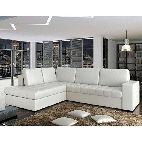 justhome camino ecksofa schlafsofa polsterecke ecoleder 17 schwarz hxbxt 90x220 265x101 cm. Black Bedroom Furniture Sets. Home Design Ideas