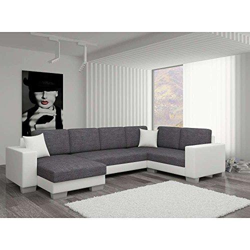 justhome marco ii wohnlandschaft couchgarnitur polsterecke strukturstoff kunstleder bxlxh 145. Black Bedroom Furniture Sets. Home Design Ideas