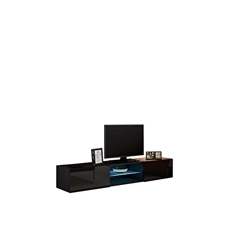 m bel24 m bel g nstig justyou vago glas lowboard tv board fernsehtisch farbe schwarz matt. Black Bedroom Furniture Sets. Home Design Ideas