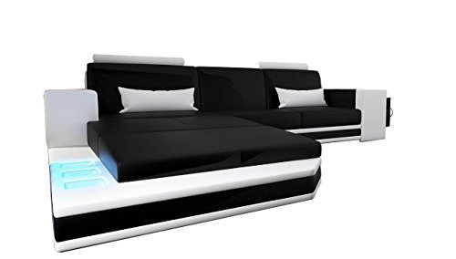 m bel24 m bel g nstig jvmoebel wohnlandschaft xxl big sofa ledersofa ecksofa bar beleuchtung. Black Bedroom Furniture Sets. Home Design Ideas