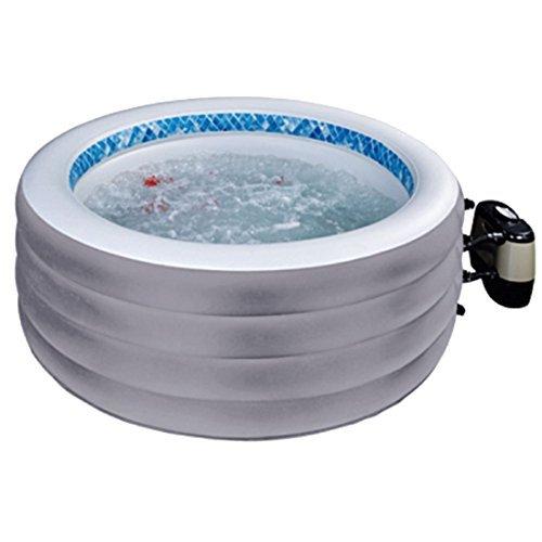 Jilong JL017294NG -P20 Avenli SPA Eco Klassic, aufblasbarer Whirlpool für 4 Personen, mit Abdeckung und Multi Pumpe, Durchmesser 178 x 65 cm, grau