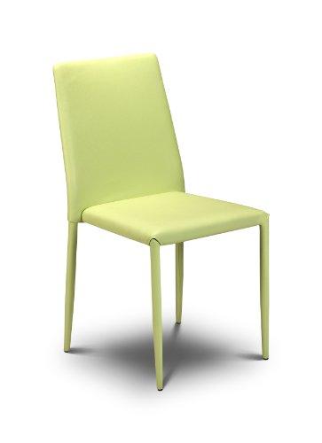 Julian Bowen Jazz Esszimmerstühle, stapelbar, Grün, 4 Stück