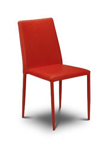 Julian Bowen Jazz Esszimmerstühle, stapelbar, Rot, 4 Stück