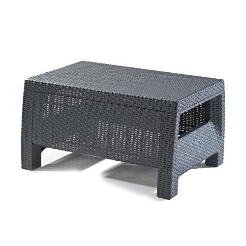 keter lounge gartentisch korfu grauer tisch garten lounge tisch in rattanoptik m bel24. Black Bedroom Furniture Sets. Home Design Ideas