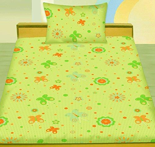 Kinder, Baby, Seersucker Bettwäsche 100 x 135 + 40x60 cm, Schmetterlinge, bügelfrei, Microfaser