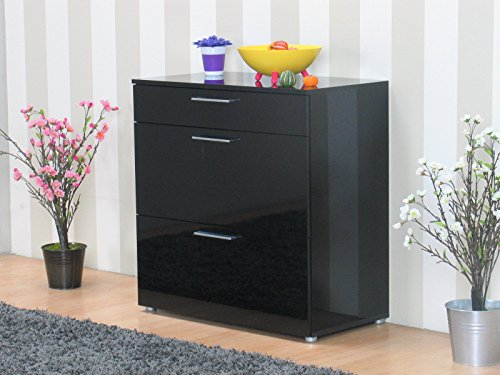 kommode infiniti sideboard schubladen flur schrank m bel hochglanz schwarz m bel24 shop. Black Bedroom Furniture Sets. Home Design Ideas