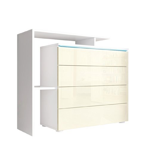 m bel24 kommode sideboard lissabon v2 in wei creme. Black Bedroom Furniture Sets. Home Design Ideas