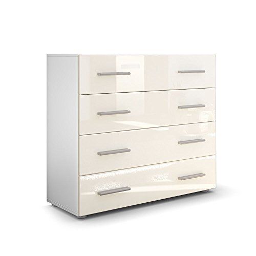 kommode sideboard pavos korpus in wei matt front in creme hochglanz m bel24. Black Bedroom Furniture Sets. Home Design Ideas