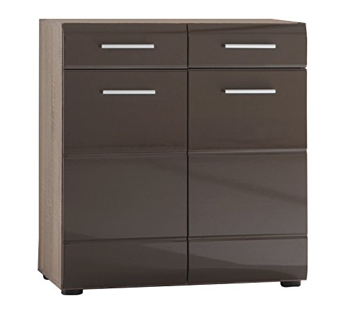 kommode trend hochglanz braun sideboard highboard schubladen schrank anrichte m bel24. Black Bedroom Furniture Sets. Home Design Ideas