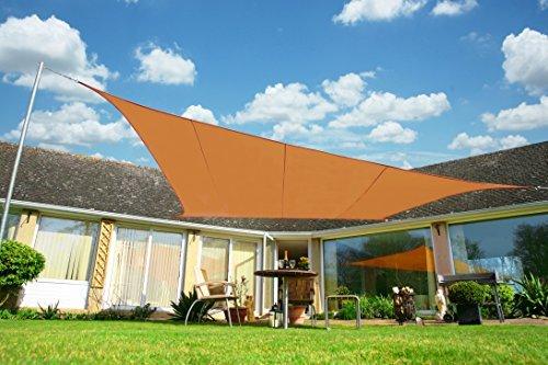 Kookaburra Wasserfest Sonnensegel 3,6m Quadrat Terrakotta