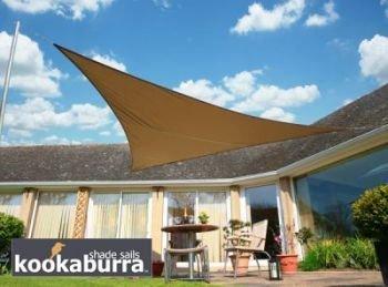 kookaburra wasserfest sonnensegel 6 0m x 4 2m rechtwinkliges dreieck mokka m bel24. Black Bedroom Furniture Sets. Home Design Ideas