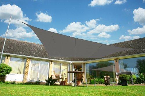 Kookaburra 5,4m Quadrat Anthrazit Atmungsaktives Sonnensegel (Strickgewebe)
