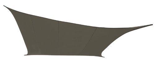 Kookaburra Gewebtes Sonnensegel (Wasserfest) Quadrat, Anthrazit, 3,6m x 3,6m