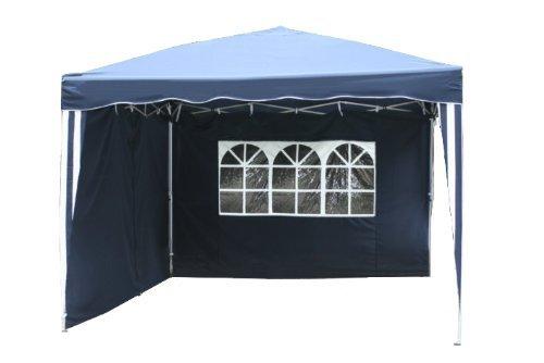 kronenburg falt pavillon dachma 3 x 3 m in blau mit 2 seitenteilen m bel24. Black Bedroom Furniture Sets. Home Design Ideas