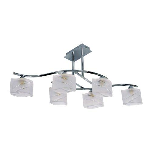 LED Deckenlampe Deckenleuchten modell Glas + echte Alu 6st. 2W SMD Leuchtmittel inklusiv