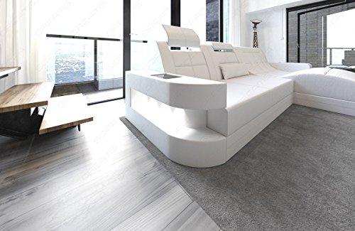 ledersofa ecksofa wave l form eckcouch wei wei. Black Bedroom Furniture Sets. Home Design Ideas