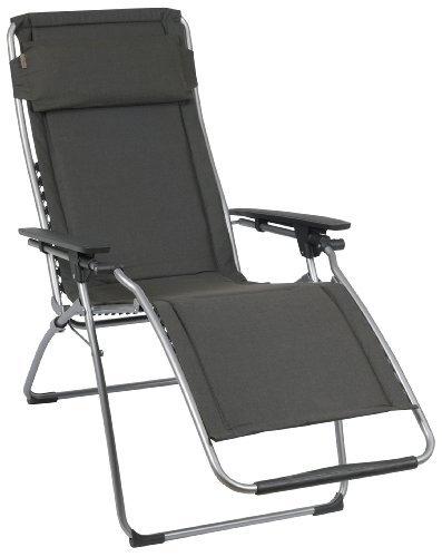 Lafuma Relax Liegestuhl, klappbar und verstellbar, Futura Polycoton, ardoise (grau) Möbel24 ~ 18031819_Liegestuhl Mehrfach Verstellbar