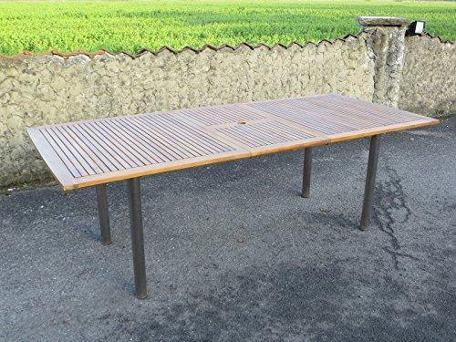 landmann ausziehtisch 180 auf 230 x 100 cm gestell edelstahl mit akazien platte fsc. Black Bedroom Furniture Sets. Home Design Ideas