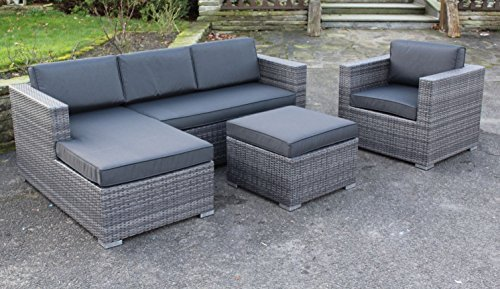 lesli poly rattan lounge set jazz inkl sessel absolut wetterfest variable liegefl che m bel24. Black Bedroom Furniture Sets. Home Design Ideas